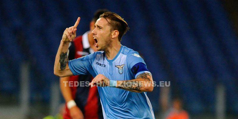 Roma 22-08-2015 Stadio Olimpico Campionato Italiano 2015/2016 Lazio-Bologna 1-0: nella foto:esultanza Biglia Foto Mezzelani-Gmt