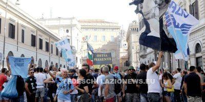 14072016 manifestazione tifosi laziali roma