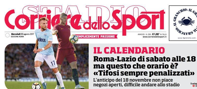 Corriere Dello Sport Calendario.Corriere Dello Sport Tutti I Titoli Di Oggi Sulla Lazio