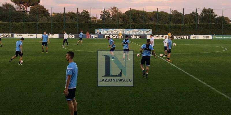 Allenamento Lazio prima