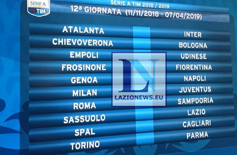 Serie A 12 Giornata Lazionews Eu