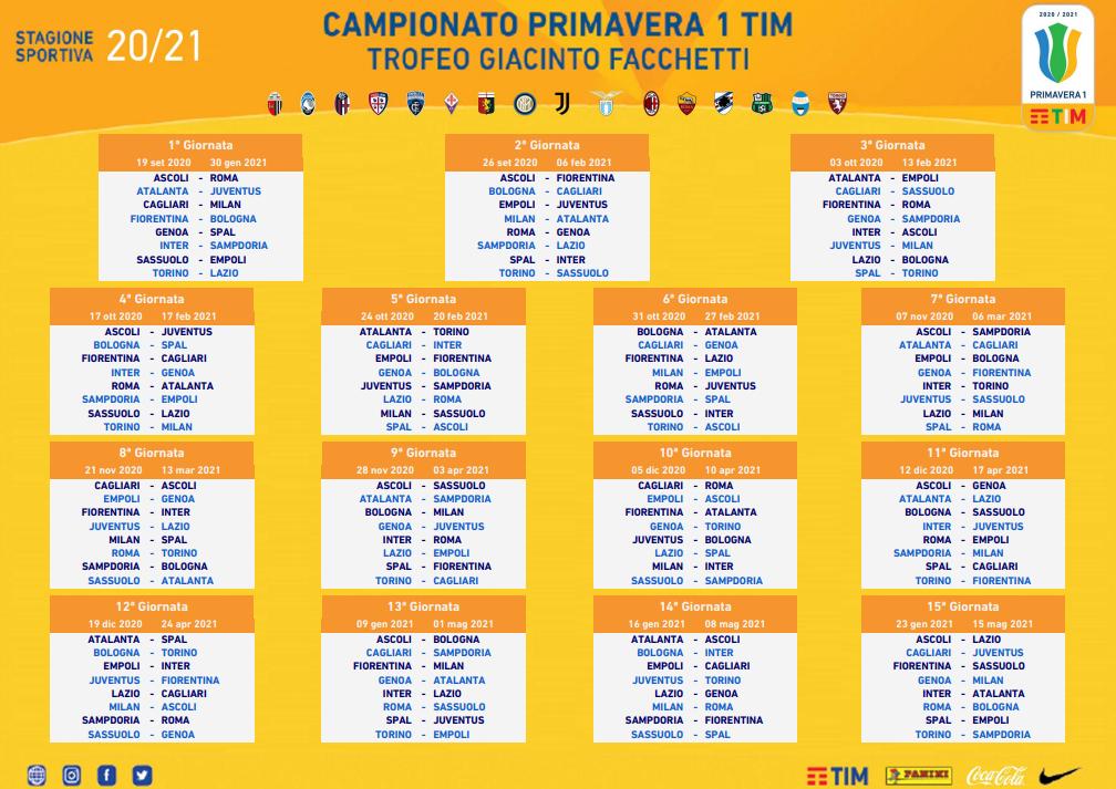 Inter Primavera Calendario 2021 lazionews.eu calendario campionato primavera 2020 2021   Lazionews.eu