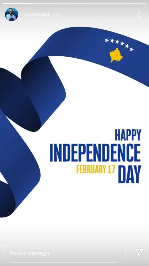 lazionews-lazio-social-muriqi-instagram-kosovo-independence-day